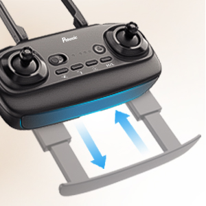 Transmitter with Flexible Phone Holder