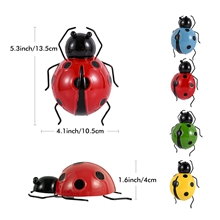 outdoor metal ladybugs