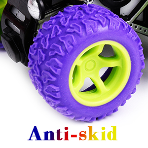 A SUPER EASY TO OPERATE, Friction Powered, No Battery Required Monster Truck