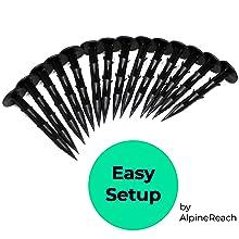 AlpineReach Koi Pond Netting Kit Easy Setup