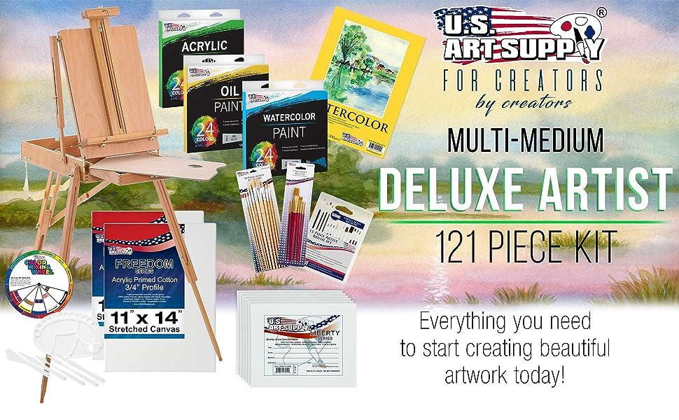 Multi-Medium Deluxe Artist 121 Piece Kit
