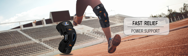 Gel patella stabilizing knee brace