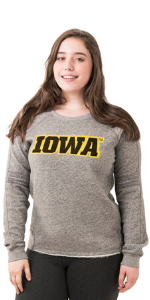 NCAA College Sweatshirt American Collegiate University of Indiana Womens Zip Hoodie