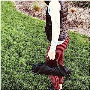 bag of baseball bases easy to carry