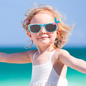 Girls Sunglasses Bunny Bow Classic Kids Glasses Love Heart UV400 Comfortable Glasses Retro Childrens
