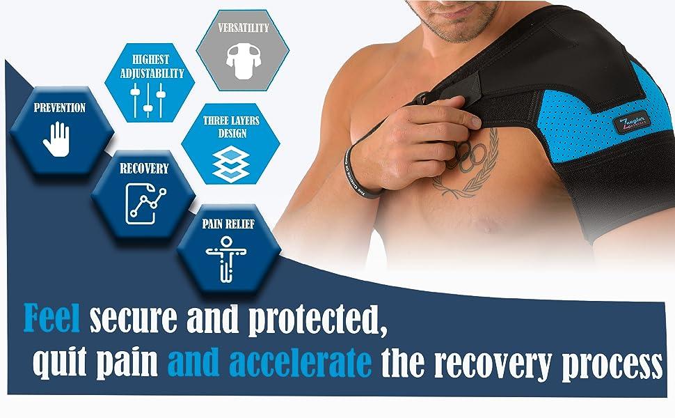 shoulder brace for men and women by Zeegler Orthosis; shoulder brace for torn rotator cuff