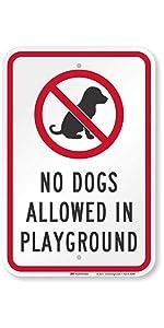 """No Dog Allowed in Playground"""