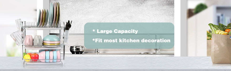 large capacity dish rack