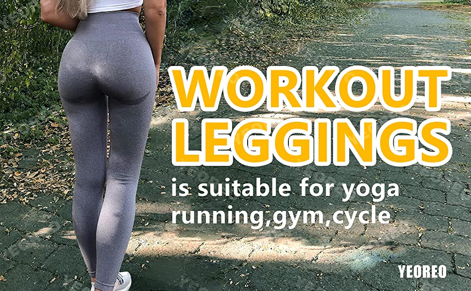 the workout leggings is suitable for yoga running gym cycle