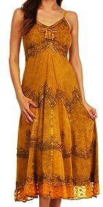 dress sleeveless spaghetti stonewashed adjustable woman solid lace elastic wedding casual summer