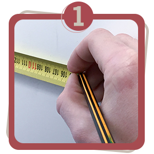 measure, step one, 1, door stop, jnd, steps