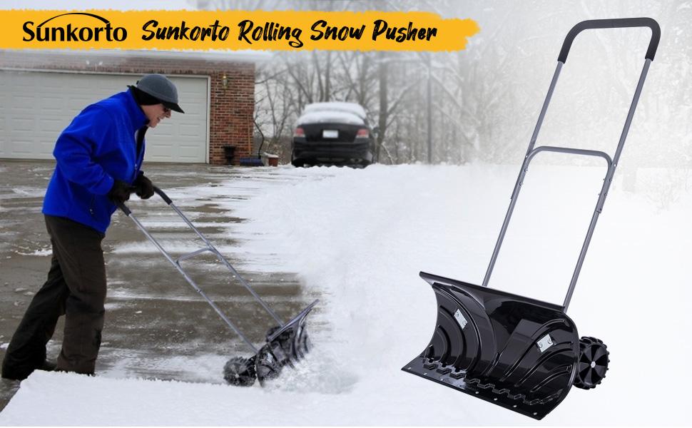 Sunkorto Rolling Snow Pusher