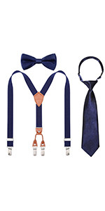 suspender bow ties sets