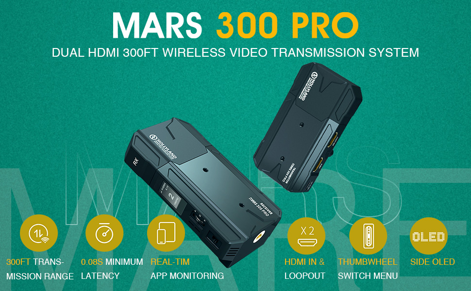 Hollyland Mars 300 Pro 1080p HDMI Transmission System
