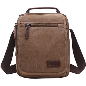 Canvas Shoulder Bag for Travel or Everyday Olive Green Or Black