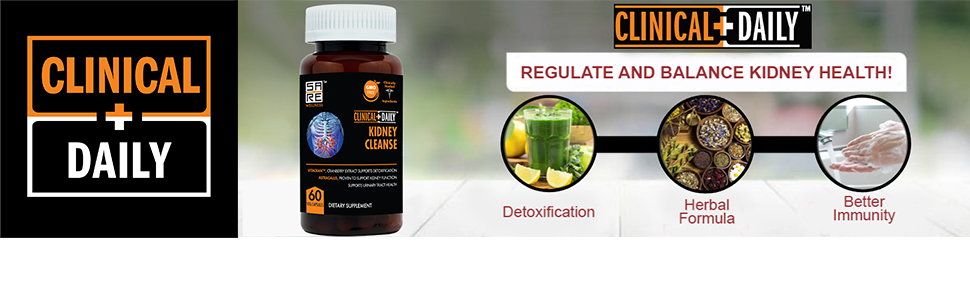 Clinical Daily Logo next to an image of the product bottle