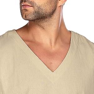 v neck linen top