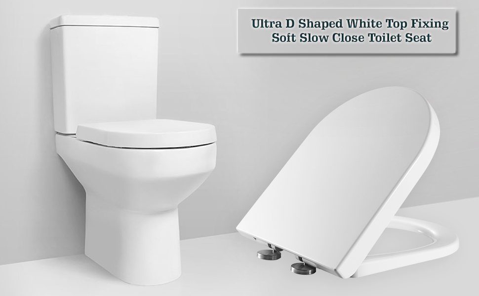 NEW FREE UK DELIVERY Realpack Q-line/® BATHROOM SOFT CLOSE SLOW OVAL WHITE TOILET SEATS D-Shape STANDARD//D-SHAPE BOTTOM FIXING