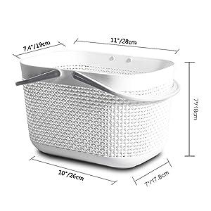 plastic baskets for storage