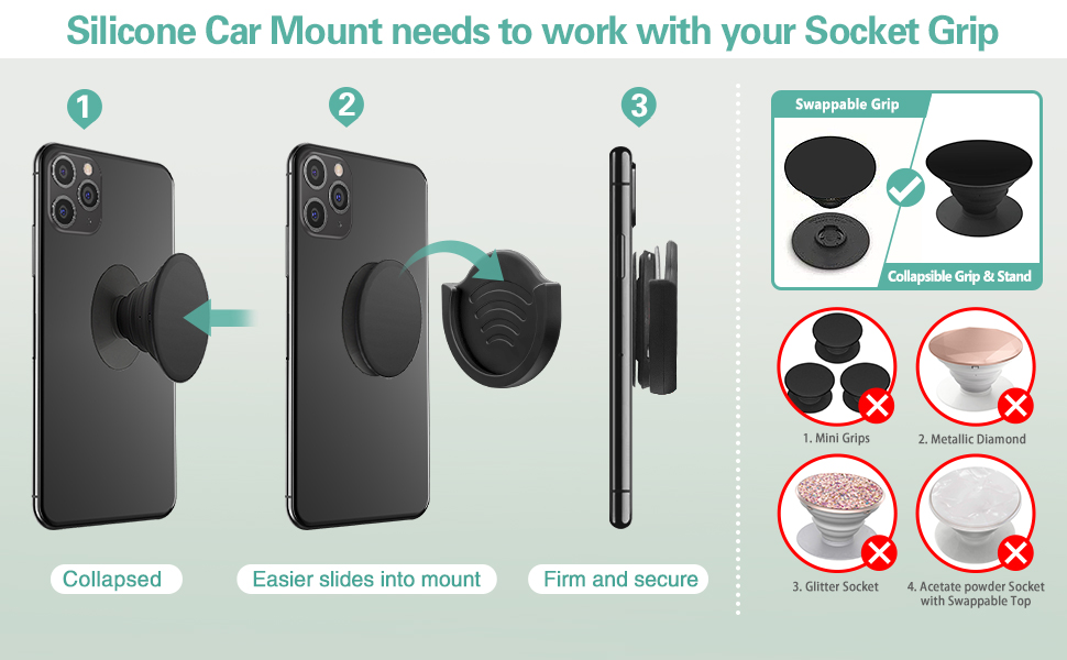 car phone dash mount for socket mount
