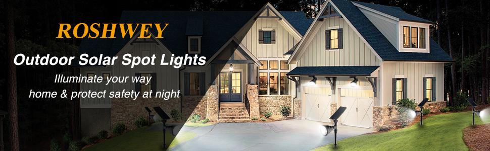 outdoor solar spot lights
