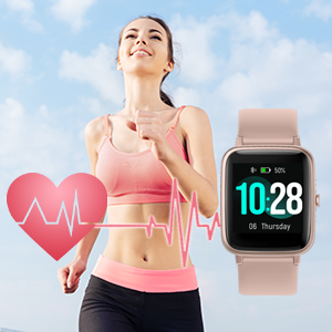 touch screen android smart watch heart rate monitor fitness tracker health kids men smart watches