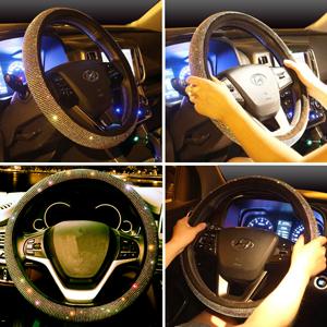 steering wheel cover for women bling diamond crystal rhinestone sparkle glitter