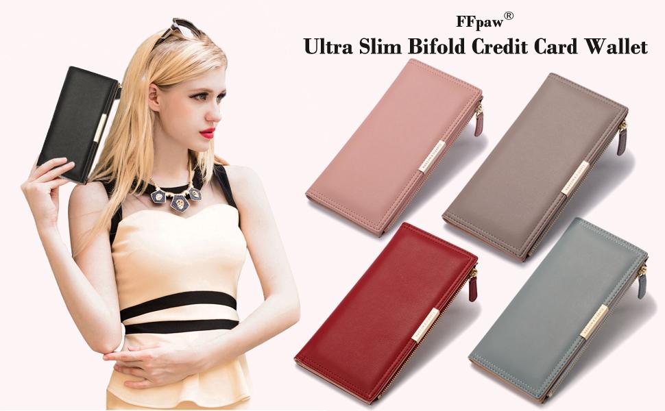 Ultra Slim Wallet Leather Credit Card Holder