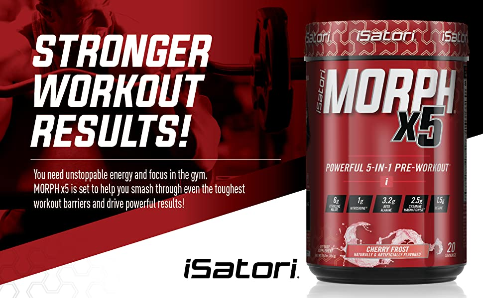 Maximum Strength intense pre workout. Full featured for intense energy pump strength and endurance