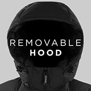 hood, removable, zip-off