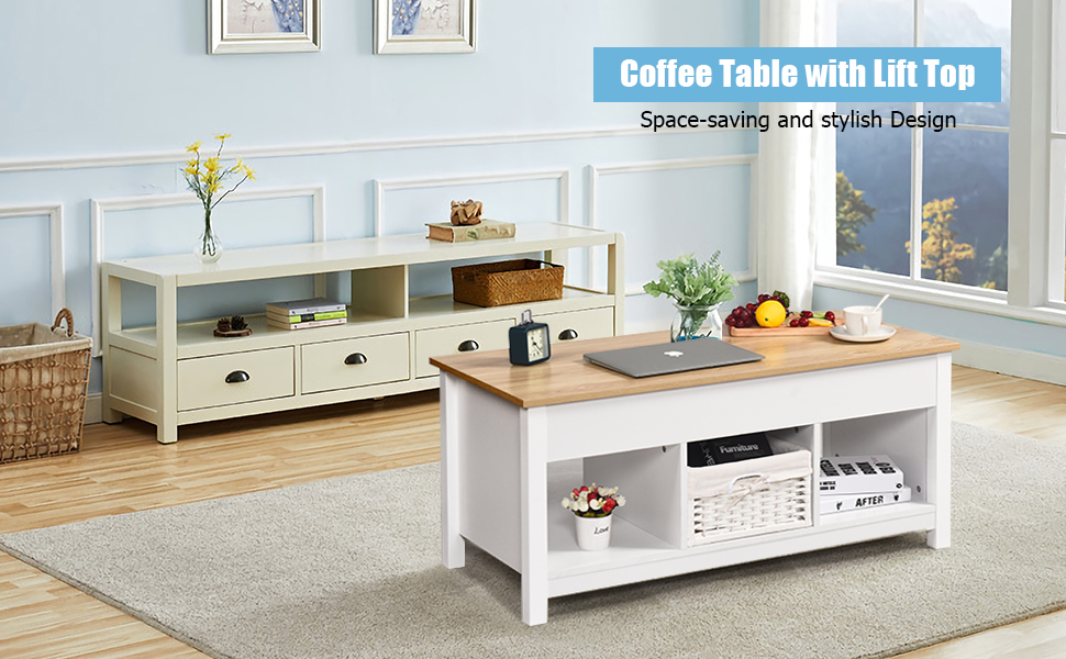 Coffee Table Lift top white