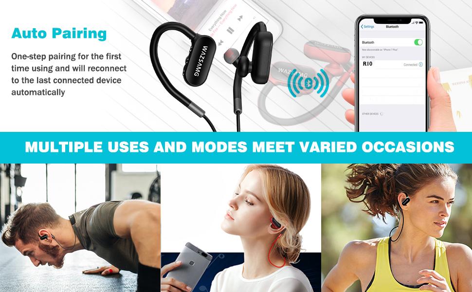 bluetooth earphone wireless with mic