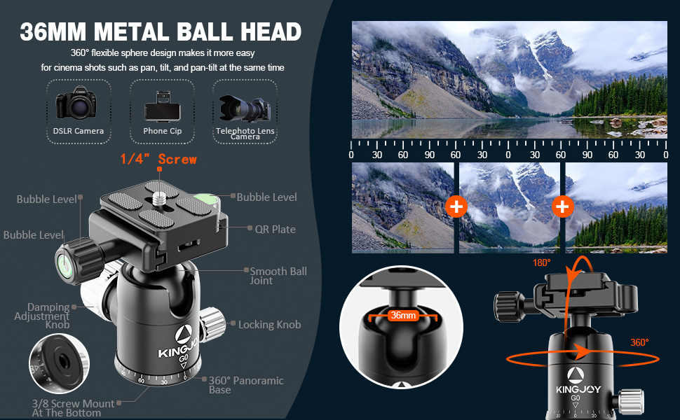 360 ball head