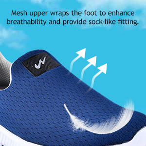 Mesh Upper Wraps The Foot To Enhanced Breathability And Provide Sock Like