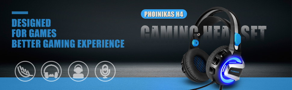 PHOINIKAS H4 gaming headset