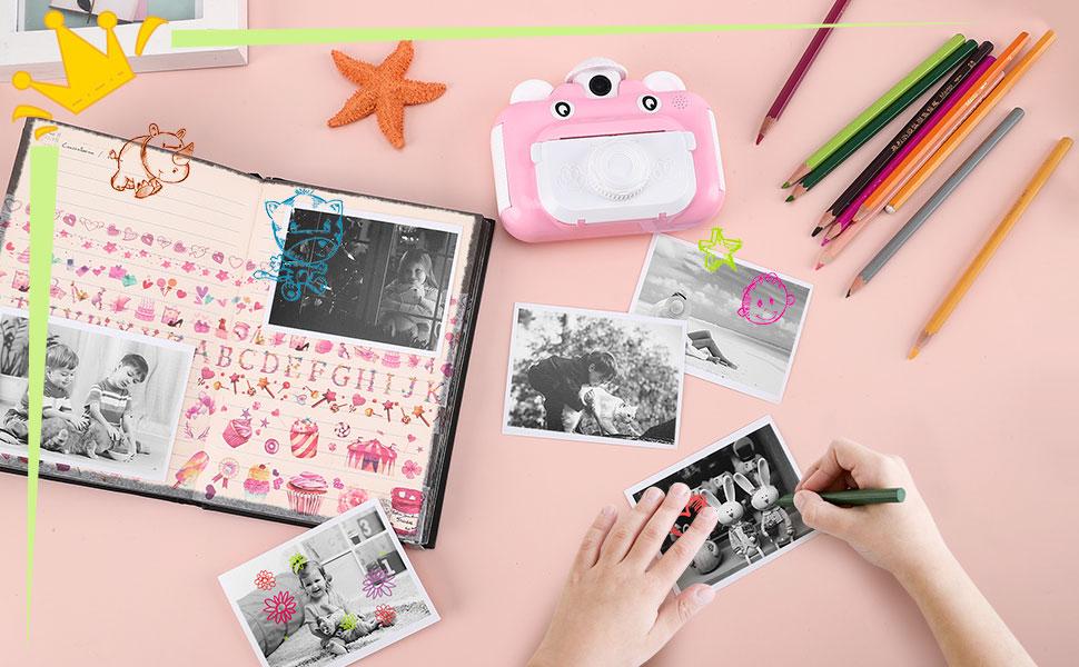 Instant Print Digital Camera for Kids