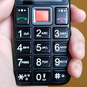 Easyfone Prime-A5 Telefono Cellulare per Anziani con Tasti Grandi, Funzione SOS, Batteria di grande con base di ricarica, Nero