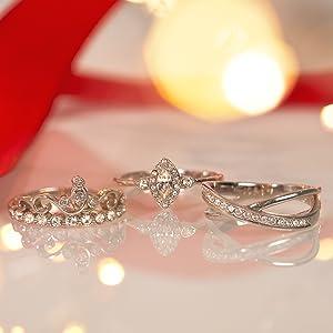 Jewelcandle bougie parfumées bijoux fantaisie cadeau bague xs s m argent Sterling 925 plaqué or rose