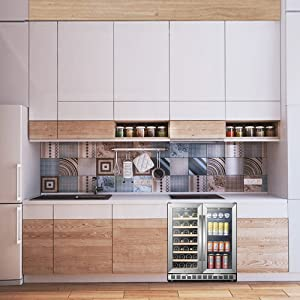 built-in wine and beverage cooler