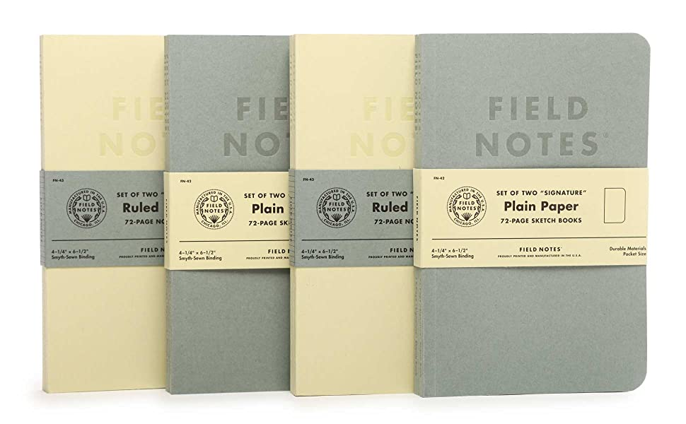 field notes cream gray signature series notebooks
