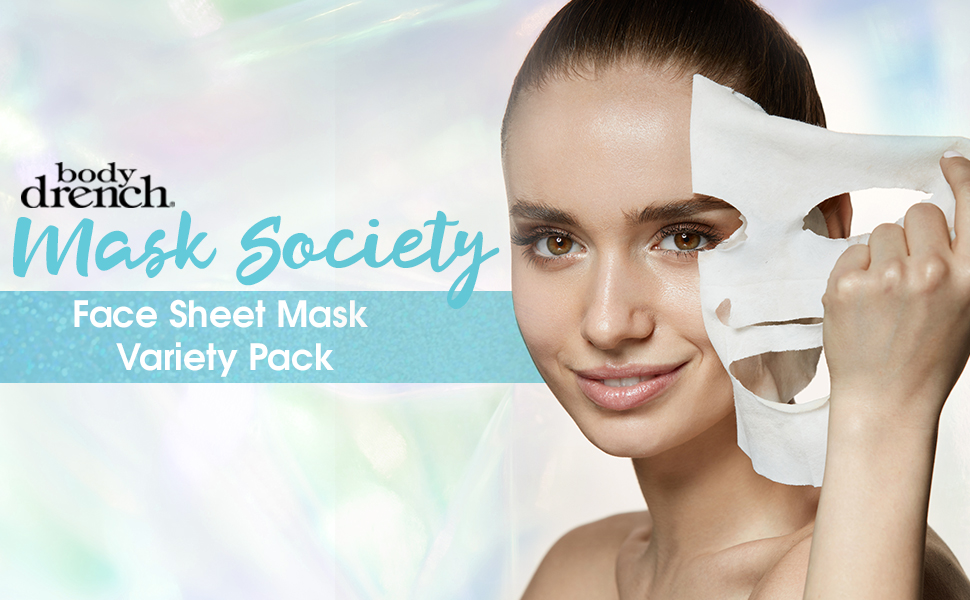 Body Drench Mask Society Face Sheet Mask, Variety Pack