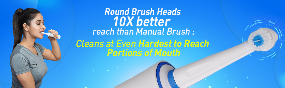 Electric Power Toothbrush better than Manual Brush