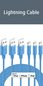 lightning cable blue