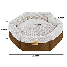 Cat Cushion Joint-Relief Sleeping Pet Bed Bolster Cat Cushion Cozy Dog Cuddler