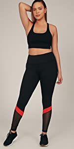 stripe legging alana athletica high waist tummy control pocket workout yoga pant women compression