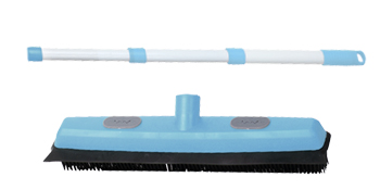 Includes Dual Side Broom Head with Telescopic Stainless Steel Handle with Grommet Hole Soft Rubber