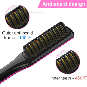 Hair Straightener Brush Anti-Scald
