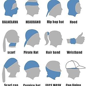 Seamless Bandana Headband Multifunction Head Scarf Cool Seamless Headwear Neck Gaiter