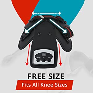 free size knee cap massager