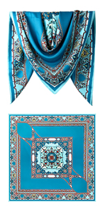 "40"" Polyester Twill Square Scarves"
